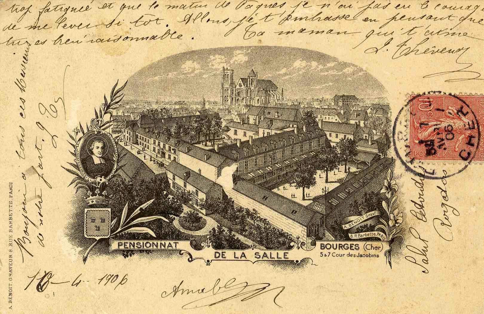Représentation du pensionnat de la salle à Bourges en 1906